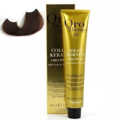 color keratin oro puro n°6.14 chocolat fondant …