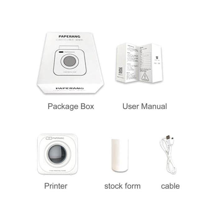 Paperang P1 Small Imprimante photo instantanée de téléphone portable sans fil Bluetooth 4.0