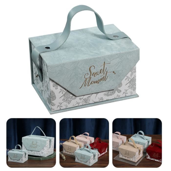 Boîte cadeau de mariage de mode 1PC Joli coffret unique cas d'emballage bonbons cremeux confiserie chocolat