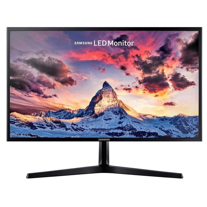 ECRAN 24- SAMSUNG LS24F356FHR FHD PLS - 4ms - 250cd/m² 1000:1 - HDMI - D-sub - 60Hz Plat - Pied simple Design ultra fin NOIR Noir