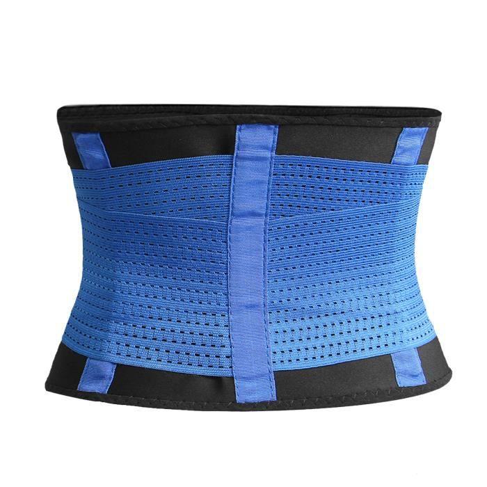 TEMPSA Bleu Ceinture Elastique Soutien Sport Fitness Ventre Façonnage Corps Caoutchouc S