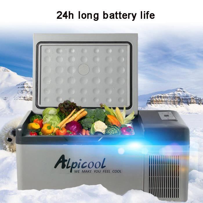 20L 12V/24V Portable Mini Frigo Réfrigérateur Mini Frigo Congélateur Pour Bar Caravane Camping