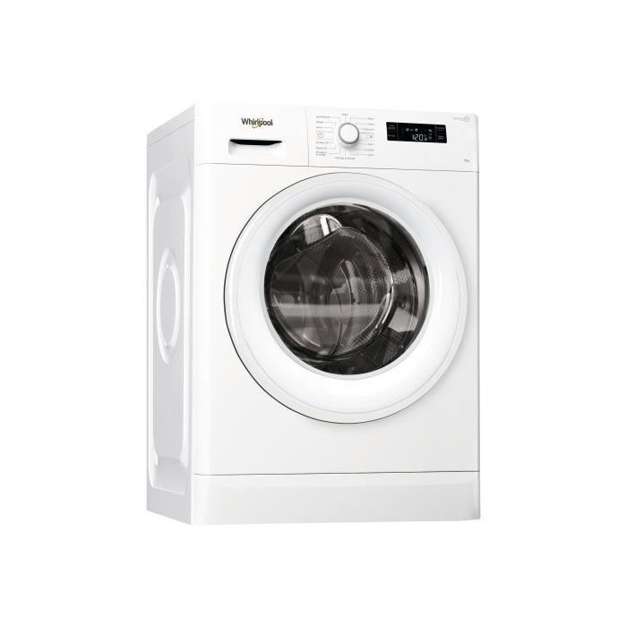 Whirlpool FWFP81484W FR Machine à laver indépendant largeur : 59.5 cm profondeur : 63 cm hauteur : 84.5 cm chargement frontal 62…