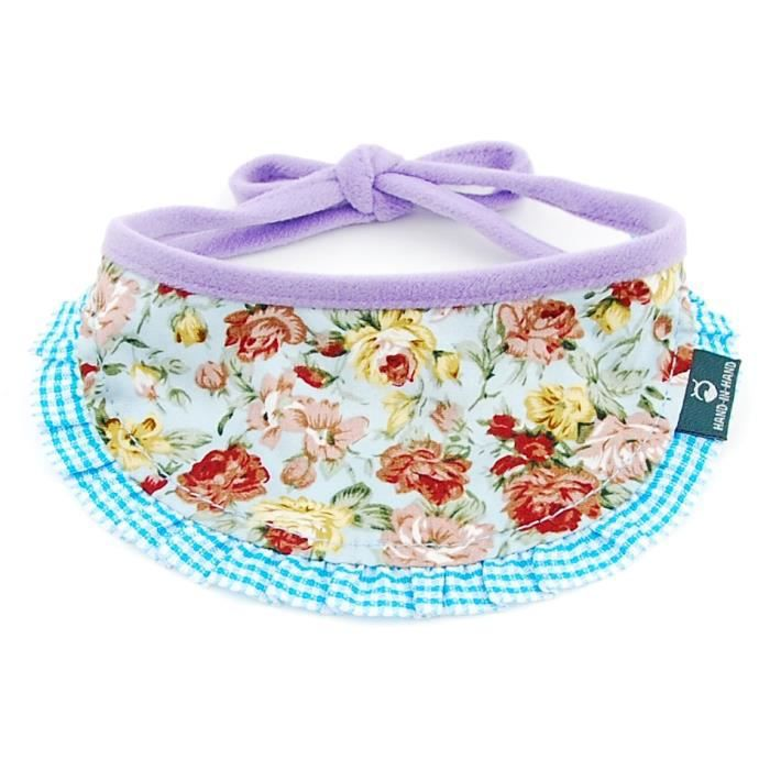 4 Blue Floral-S -Collier ajustable pour chien chat - Tissu écossais,écharpe ajustable,lavable,pour chat,chiot,accessoires d'ani