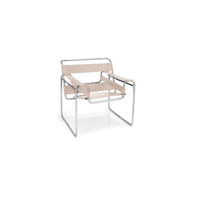 Chaise Wassily Inspirée Marcel Breuer Cuir Achat Vente