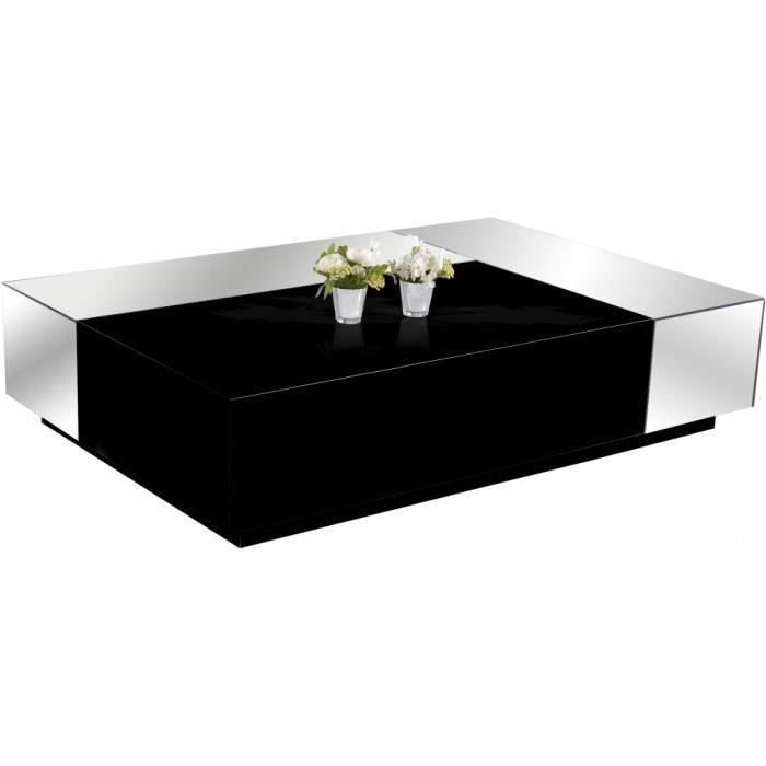 table basse design laque noir brillant miroirs achat vente table basse table basse design. Black Bedroom Furniture Sets. Home Design Ideas