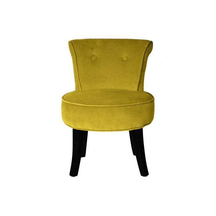 petit fauteuil crapaud louis velours ocre achat vente fauteuil cdiscount. Black Bedroom Furniture Sets. Home Design Ideas