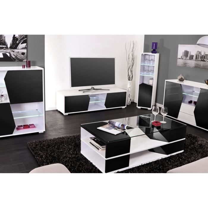 ensemble meuble tv table basse etag re noir achat. Black Bedroom Furniture Sets. Home Design Ideas