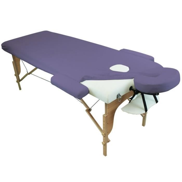 drap housse de protection 4 pi ces en ponge pour table de massage violet achat vente. Black Bedroom Furniture Sets. Home Design Ideas