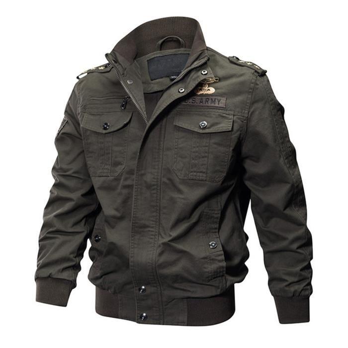 Veste hommes militaire de marque luxe pas