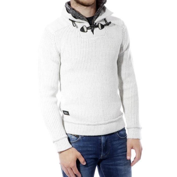 Fantaisy Homme Pull Ecru Kapsule Jeans Blanc Blanc Achat