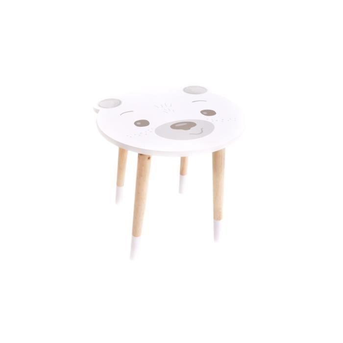 Table dAppoint Design Enfant Douceur 60cm Gris Paris Prix Atmosphera for Kids