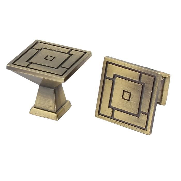 Cabinet placard poignée ronde métal Poignée boutons bronzé 24mm Dia 4Pcs