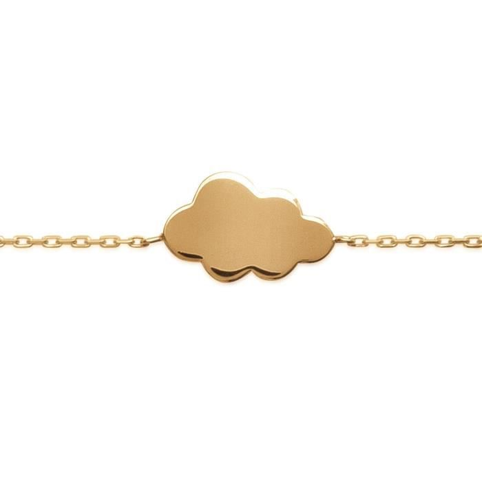 MARY JANE - Bracelet plaqué Or - Long:16-18cm - Larg:10mm - Femme - Nuage