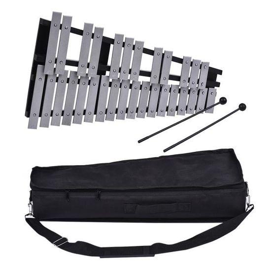 En bois percussion glockenspiel xylophone métal barres de Livré Avec en Bois Batteur