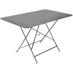 Table de jardin pliante en metal Grise 110x70cm - Achat ...