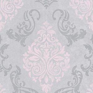 3,28 €//1qm Baroque Nappes Papier Peint Gris Foncé Blanc Paillettes Timeless 10070-34