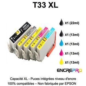 CARTOUCHE IMPRIMANTE 5 cartouches encre compatibles EPSON 33XL - T3351-