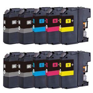 CARTOUCHE IMPRIMANTE PACK DE 10 CARTOUCHES COMPATIBLES BROTHER LC123 -