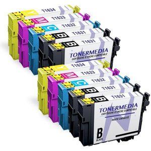PACK CARTOUCHES TONERMEDIA - x10 cartouches Epson 16XL compatibles