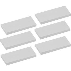 ETAGÈRE MURALE Lot de 6 étagères murales en bois - 80 cm - blanc