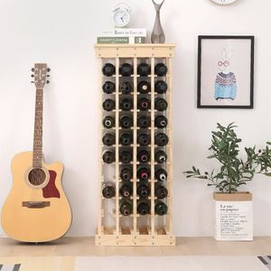 MEUBLE RANGE BOUTEILLE Étagère à bouteilles en bois - AYUNS Meuble range