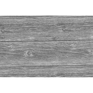 PAPIER PEINT Adhésif décoratif Grey Wood - 200 x 45 cm - Gris
