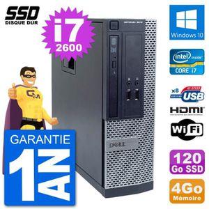 ORDI BUREAU RECONDITIONNÉ PC Dell OptiPlex 3010 SFF Intel i7-2600 RAM 4Go SS