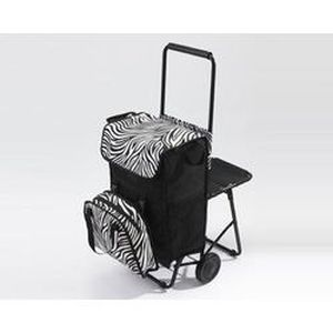chariot de course caddie sac isotherme noir blanc achat vente chariot de march. Black Bedroom Furniture Sets. Home Design Ideas