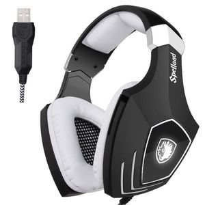 CASQUE AVEC MICROPHONE Sades OMG/A60S Over-Ear USB Casque Gaming Gamer He