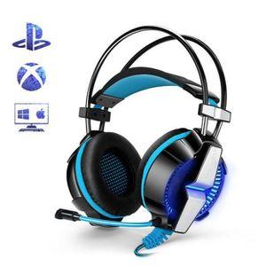 CASQUE AVEC MICROPHONE Casque PS4 Gaming, Casque Audio Stéréo Basse avec