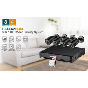 floureon kit de camera surveillance 8ch 1080p achat. Black Bedroom Furniture Sets. Home Design Ideas