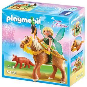 UNIVERS MINIATURE PLAYMOBIL 5448 Fée Diana avec cheval Luna