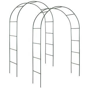 ARCHE TECTAKE 2 Arches de jardin pour Plantes Grimpantes