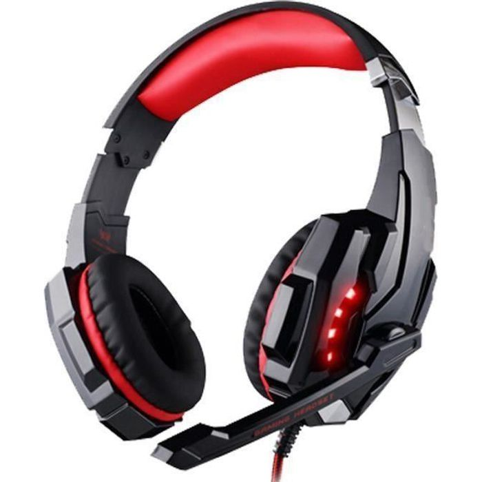 Casque Gamer 7.1 compatible PS4 - USB 3.5mm - micro et LED