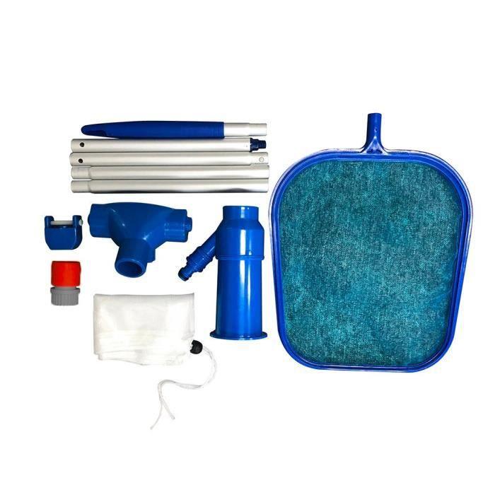 【Kit piscine】Brosse propre de tuile de mur de piscine de tête d'aspirateur de piscine avec le filet d'écumeur de feuille de