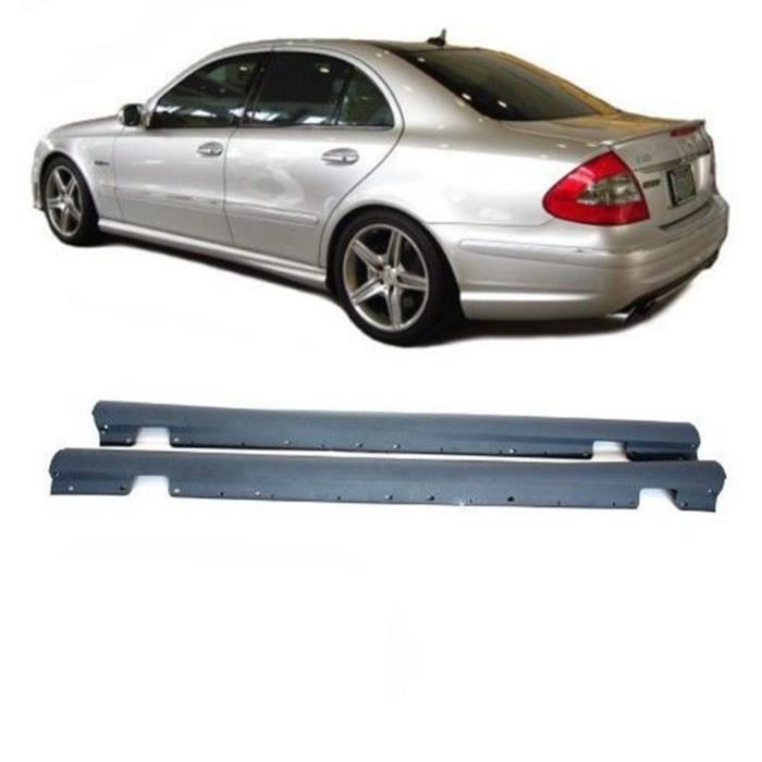 Jupes latérales pour Mercedes Classe E W211 03-09 AMG Design Polypropylène