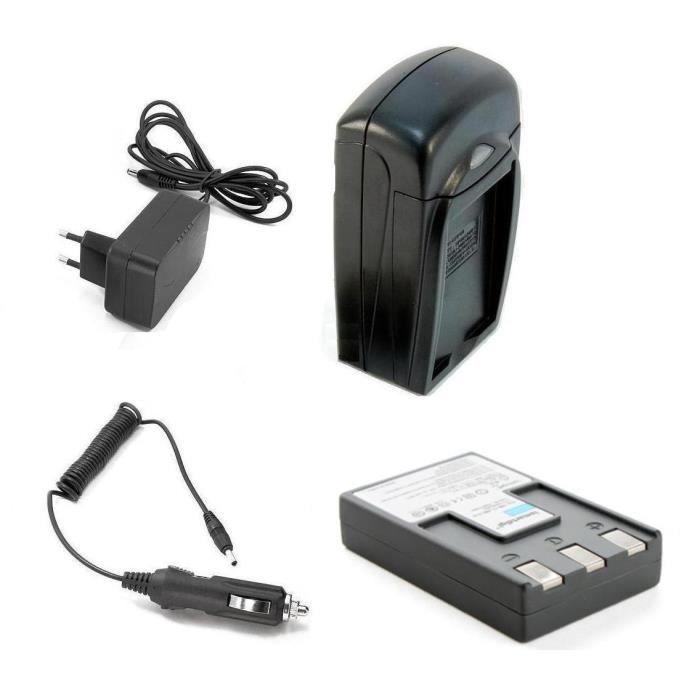 Batterie pour Appareil photo Canon Digital ixus 400 pack + chargeur type nb-1l, nb-1lh - 3.7v - 920mah