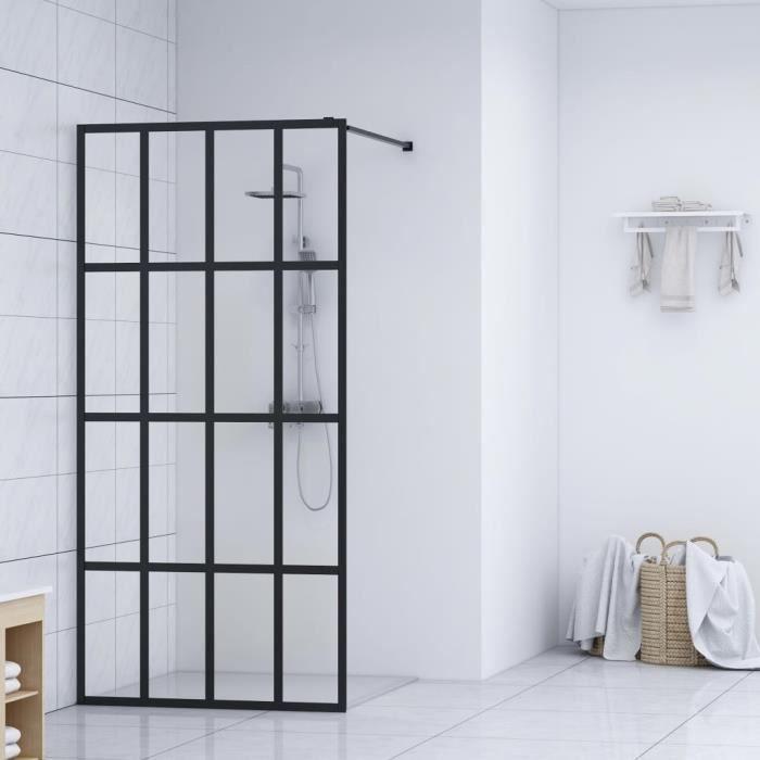 Écran de douche-Porte de douche paroi de baignoire Verre trempé 118x190 cm