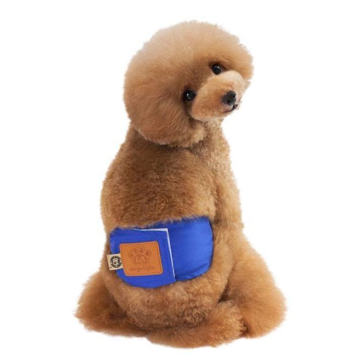 Culotte Hygiénique,Costume de chiot mignon,Couches pantalons en coton pour chien de chat,précisez différents Types - Type Bleu-S
