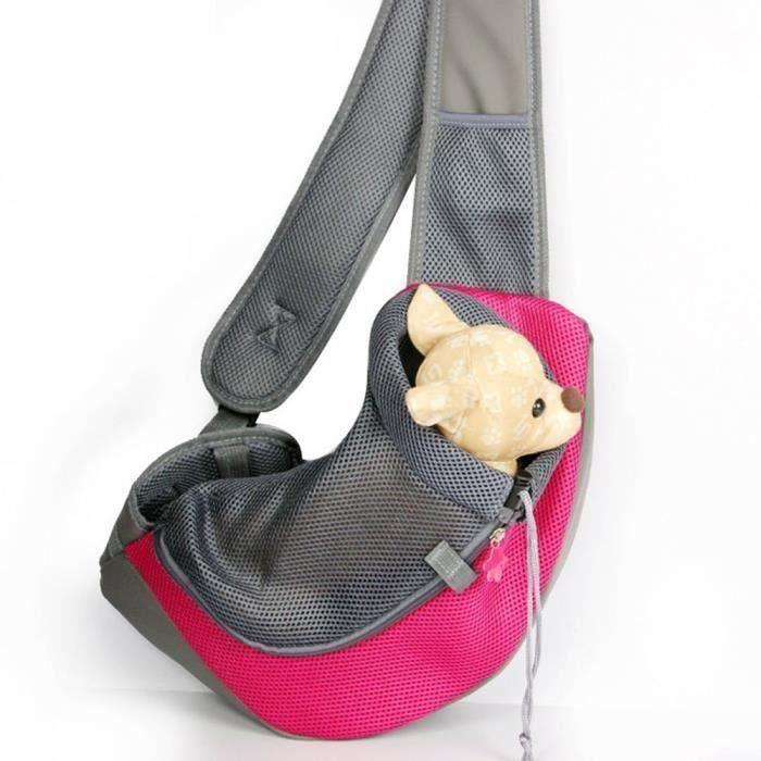 Sac de transport pour chat Sac à dos Chat sac de voyage transporteur pour chien chiot Sac à Bandoulière pour Transporter Ani Aw74441