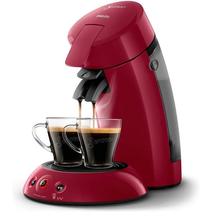 MACHINE A CAFE Philips HD655491 Machine agrave Cafeacute agrave Dosettes Senseo Original Rouge Intense 0 75 Litre6
