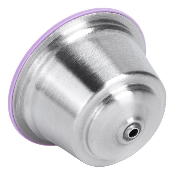 RIN Tasse de capsule de café réutilisable en acier inoxydable adaptée à la cafetière Dolce Gusto Violet