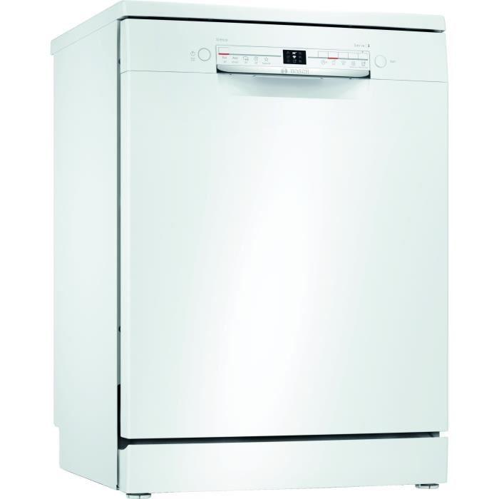 Lave-vaisselle pose libre BOSCH SMS2ITW42E Série 2 - 12 couverts - Induction - L60cm - 46dB - Blanc