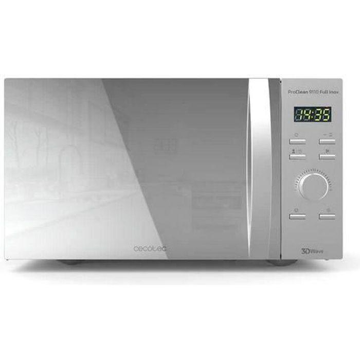 Cecotec Micro-ondes Gril ProClean 9110. Capacité d'30 L, Revêtement Ready2Clean, 1000 W de Puissance, Gril 1000 W, 5 Niveaux de Fonc