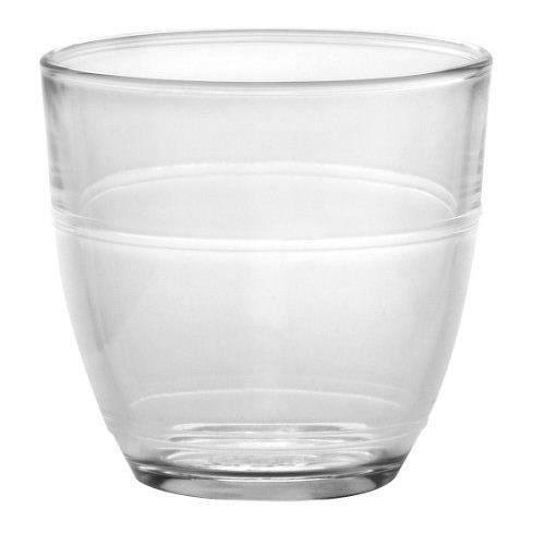 DURALEX Lot de 4 verres gobelets gigogne - Forme basse - 22 cl - Transparent - Verre