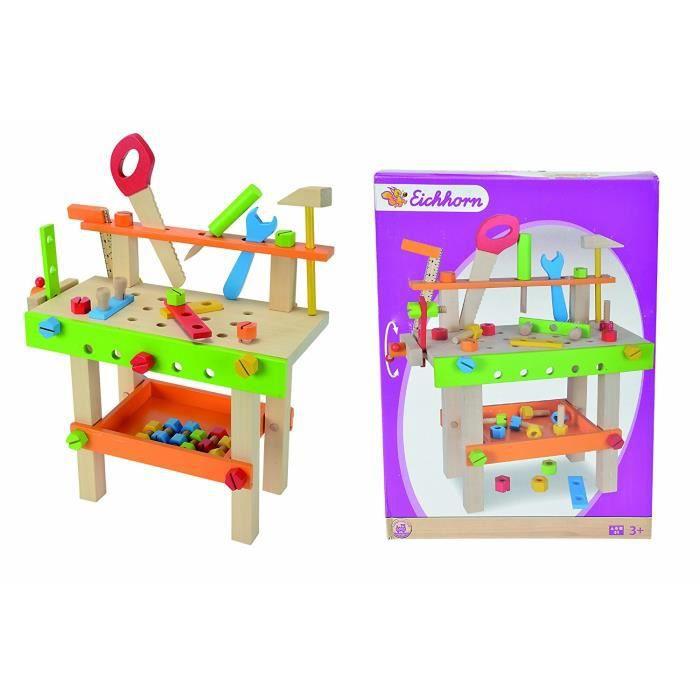 Eichhorn - 100001844 - Table de travail-jeu d'éveil en bois