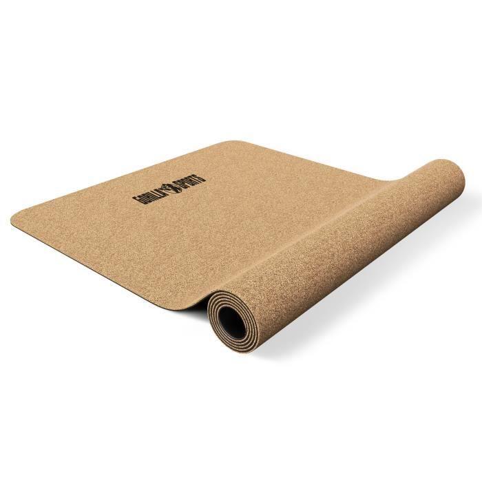 Tapis de yoga en liège - 183 x 61 x 0.5 cm