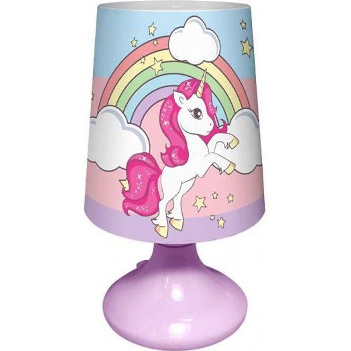 LICORNE Mini Lampe de Chevet Rose
