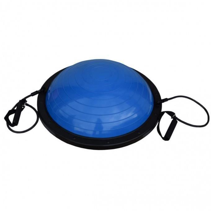 Balance Ball Step Tenseurs Bleu Pilates Yoga Equilibre Fitness Sport